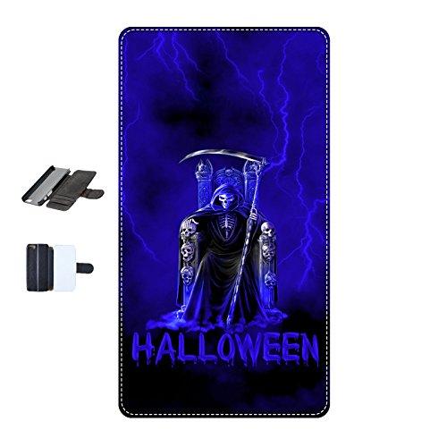 Housse Iphone 4-4s - Halloween faucheuse bleu