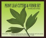 Petal Crafts Cutter and Veiner Set (5 Pack), Peony Leaf