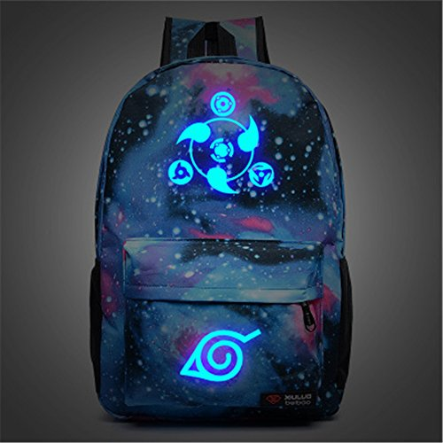 siawasey anime naruto cosplay luminous bookbag backpack