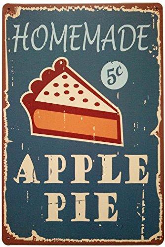 - ERLOOD Homemade Apple Pie Tin Sign Wall Retro Metal Bar Pub Poster Metal 12 X 8