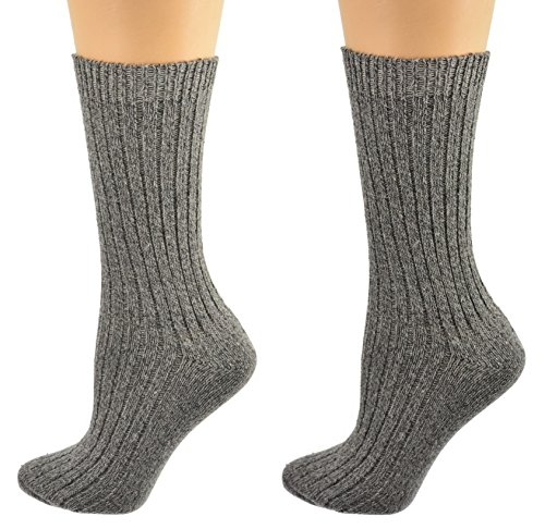 Sierra Socks Women's Cotton Outdoor Boot Hiking Casual Socks 2 Pair Pack 2239 (Black/White)