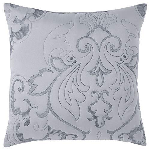 "BrylaneHome Amelia 16"" Square Pillow, Grey"