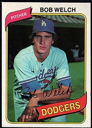 Amazoncom Baseball Mlb 1980 Topps 146 Bob Welch Dodgers