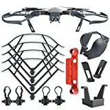 Kuuqa 4Pcs DJI Mavic Pro Protection Accessories Kit, Including Landing Gear Extender, Lens Hood Gimbal Guard, Quick Release Propeller Prop Guard and Remote Controller Stick Thumb Protective Clip