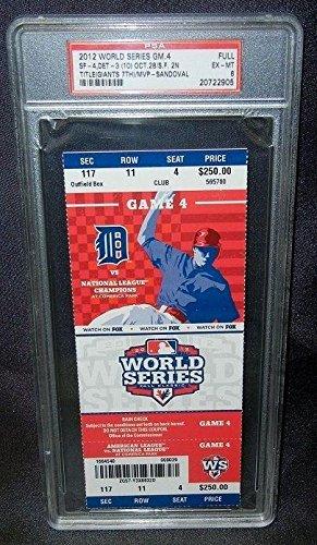 2012 World Series Game 4 Ticket Psa Near Ex-mt 6 San Francisco Giants Win Title (San Francisco Giants Win World Series 2012)