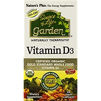 Nature's Plus Sol Garden Vit D3 5000 IU Tablets, 60 Count