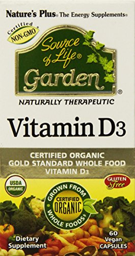 Nature's Plus Source of Life Garden Organic Vitamin D3 5000 IU, 60 Vegan capsules
