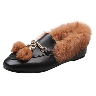 62237fbe267 Amazon.com | GouuoHi Womens Boots Fashion Ladies Tassel Shoes Non ...