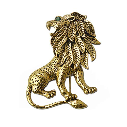 Oldlila Animal Brooch for Women Men Rhinestone Crystal Brooch Diamond Brooch Pins Silver/Gold ()