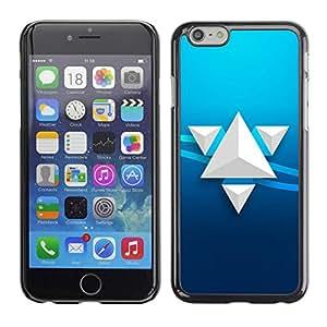 Paccase / SLIM PC / Aliminium Casa Carcasa Funda Case Cover para - Triangle Art - Apple Iphone 6