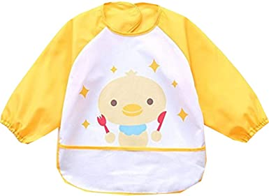 BABY KIDS ART CRAFT LONG SLEEVE SMOCK APRON BIB FOR PAINTING COOKING SCHOOL HOME