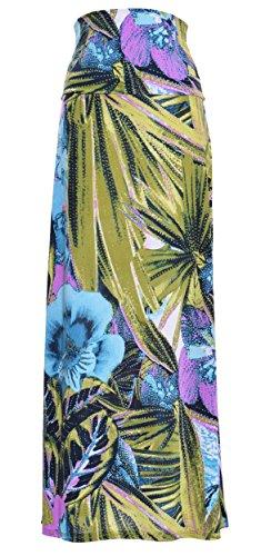 Printed Maxi Skirt (Medium, Tropic)