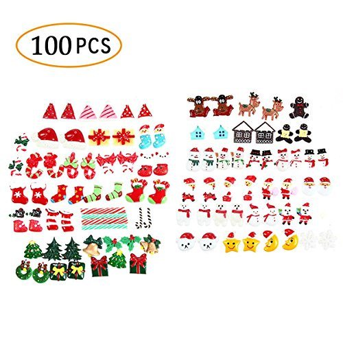 Aolvo 100 Small Slime Charms Cute Decodens Kawaii Cabochons