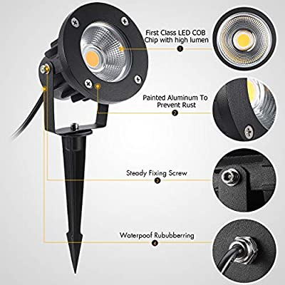 LCARED LED Outdoor Spotlight for Yard,Patio,Lawn, Wall, Flood,Driveway,Tree Lighting