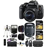 Canon EOS Rebel T6i 24.2MP CMOS Digital SLR Camera with EF-S 18-55mm f/3.5-5.6 IS STM Lens + 58mm Telephoto Lens + Wide Angle Lens + Case + Flash + Grip + Tripod + Filter Kit + Lexar 32GB Deluxe Accessories Bundle Noticeable Review Image