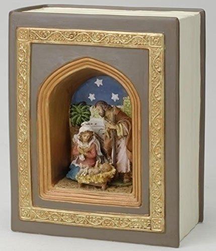 Roman Fontanini Holy Family Nativity Book Style Musical #56305 by Roman (Image #1)