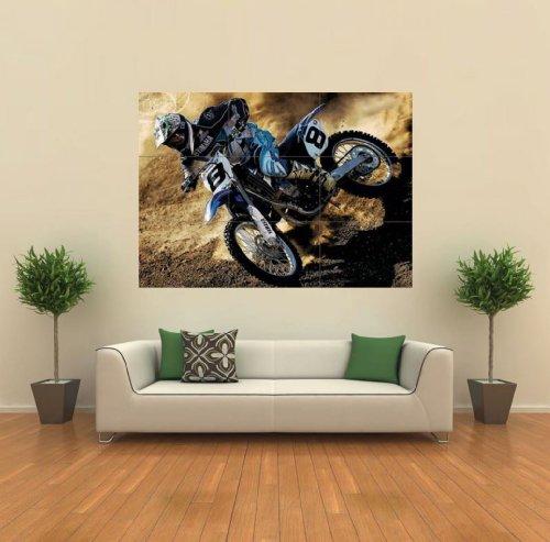 Yamaha Motocross Motorbike Giant Poster Print