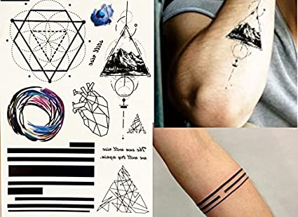 Líneas Tattoo grafische geométrico Tatuajes Falsos Tatuajes flash ...