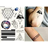 Líneas Tatuajes grafische Tatuajes Brújula Planet Fake Tatuajes ...
