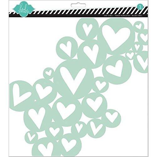 Heidi Swapp Heart Cluster Stencil, 12 by 12-Inch