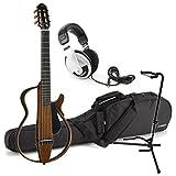 Yamaha SLG200N NT Nylon Silent Guitar 2015 New Model (Natural) w/ Gig Bag, Stand, and Headphones