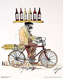 "product image for ""Ralph Steadman Wine"" Wall Art, 24"" x 30"", Multicolor"