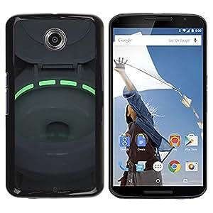 Caucho caso de Shell duro de la cubierta de accesorios de protección BY RAYDREAMMM - Motorola NEXUS 6 / X / Moto X Pro - Toilet Green Neon Light Bowl