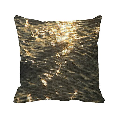 Smity 106 Pillowcase Sea Waves, Sunlight In Water, Star Cushion Cover 18 x 18 Inch