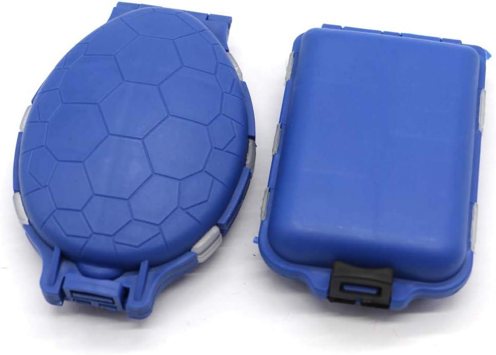 PCTC Fishing Hook Small Accessories Organizer Storage Box Double-Sided Multi-Layer Fishing Fittings Box