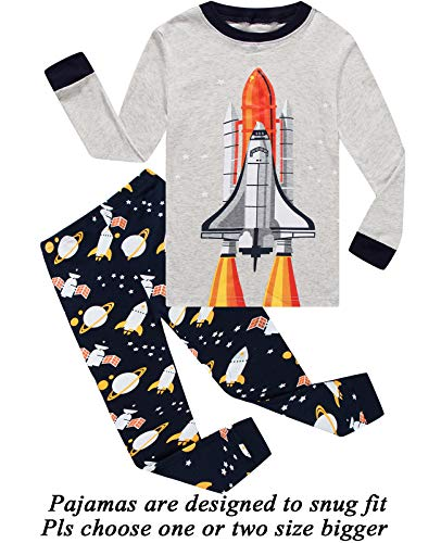 - Boys Pajamas Long Sleeve 100% Cotton Toddler Pjs Kids Clothes Pants Set 4T