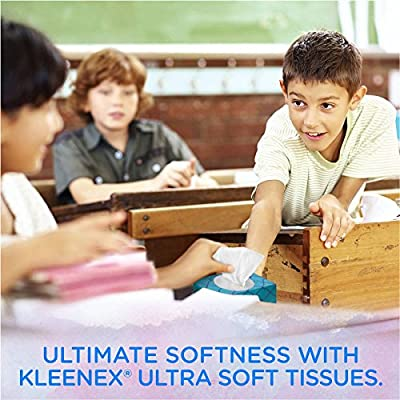 Kleenex Facial Tissues, Ultra Soft & Strong, 120 Sheets, Pack of 3 (Designs May Vary)