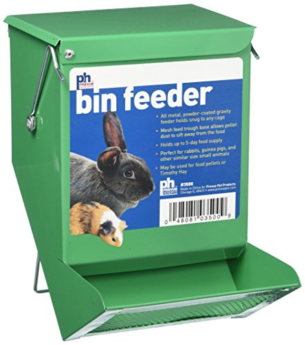 Prevue Pet Products SPV3500 Metal Small Animal Bin Feeder, Green Gravity Bin Feeder