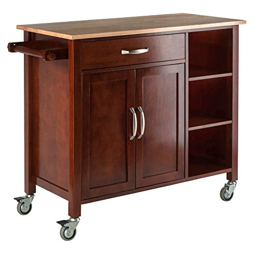 Winsome Wood Walnut/Natural Mabel Kitchen Cart Basic Facts