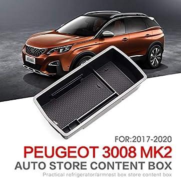 Linfei Auto Mittelarmlehne Box Für Peugeot 3008 2017 2020 Gt Innen Zubehör Verstauen Aufräumen Organizer Auto