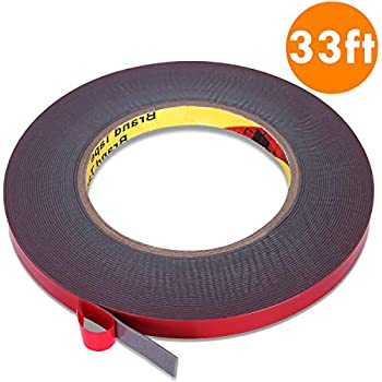 Lvyinyin Double Sided Adhesive Tape, Heavy Duty Mounting Tape, Waterproof Foam Masking Tape, Length 33ft 10M, Width 0.39Inch 1CM for 5050 LED Strip Lights, Home Office Decor