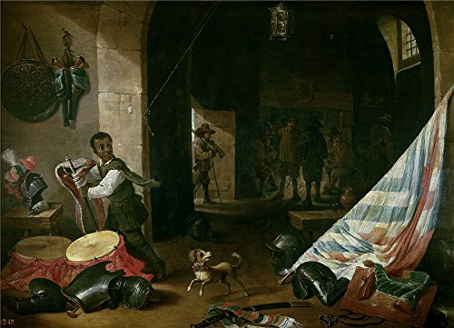 (Oil Painting 'Teniers Abraham Un Cuerpo De Guardia (II) 17 Century', 24 x 33 inch / 61 x 84 cm , on High Definition HD canvas prints is for Gifts And Foyer, Gym And Powder Room Decoration, my)