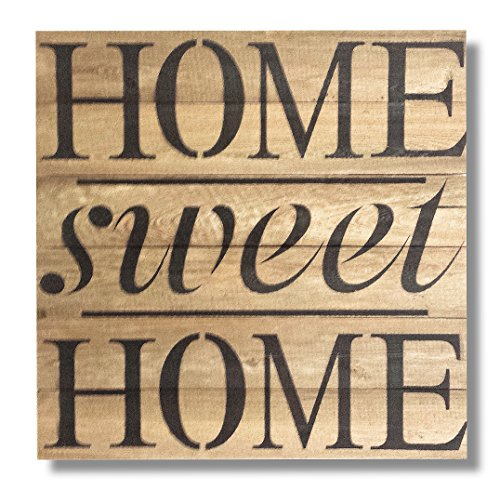 Beach Frames Rustic Reclaimed Wood Wall Art Sign, Sweet Home, 22″ x 22″ For Sale