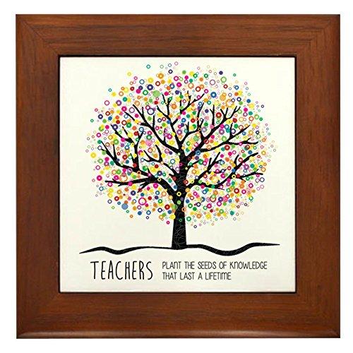 CafePress - Teacher Appreciation Quote - Framed Tile, Decorative Tile Wall Hanging