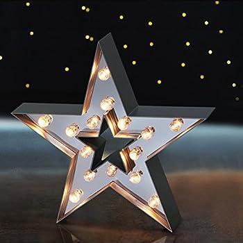 Amazon Com Juhui Marquee Light Star Shaped Led Plastic