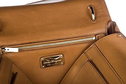 Salvatore Ferragamo sac à main femme shopping cuir neuve suzanna marron