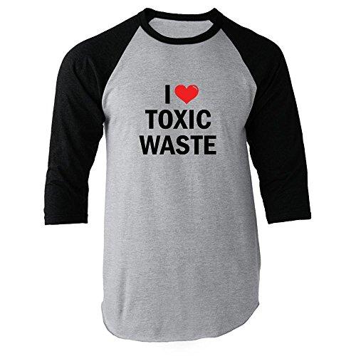 I Love Toxic Waste Black XL Raglan Baseball Tee by Pop Threads (Image #2)