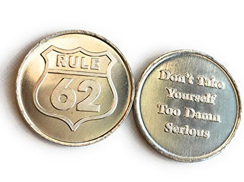 RecoveryChip Set of 10 Aluminum Rule 62 Don't Take Yourself Too Damn Serious AA Medallions