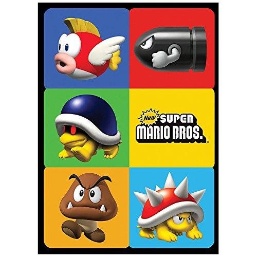 Super Mario Bros Party Supplies - Sticker Sheets (4) (Mario Accessory Child Kit)