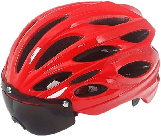 Equipo de ciclismo Equipo de protección deportiva Casco de bicicleta for adultos Casco for montar en bicicleta Casco de seguridad for bicicleta Adecuado for entusiastas del ciclismo al aire libre de a: