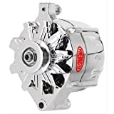 Powermaster Performance 8-37101-360 Alternator Ford Upgrade 100 Amp 75 Idle 1V Pulley And Baffle 1 Wire Brushed Alternator