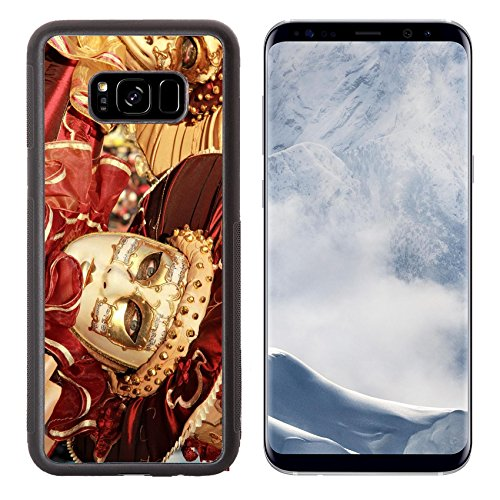 Carnival Of Venice Costumes Ideas (Liili Premium Samsung Galaxy S8 Plus Aluminum Backplate Bumper Snap Case Close up of a colourful mask in gold and red with music score Venice Carnival Photo 12473681 Simple Snap Carrying)