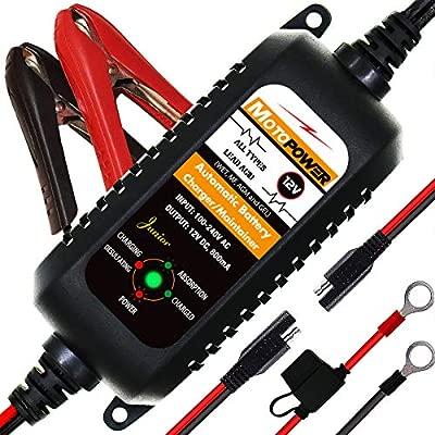 MOTOPOWER MP0205A 12V 800mA Cargador de batería automático/Mantenedor para automóviles, Motocicletas, ATVs, RVs, Powersports, Barco y más. ...