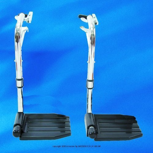 Hemi Footrest without Heel Loop, Footrest Hemi Economy, (1 PACK, 2 EACH) by Invacare