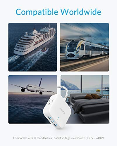 Anker Power Strip with USB C, Power Delivery Travel Power Strip, 30W PowerPort Strip PD 2 Mini with 2 Outlets & 3 USB (18W USB C), 5 ft Cord, Flat Plug, for Hotel, Dorm Room, Cruise Ship and Home