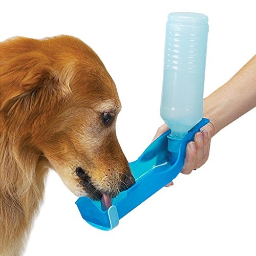 250ml Foldable Pet Dog Cat Water Drinking Bottle Dispenser Travel Feeding Bowl by Toppy Pets